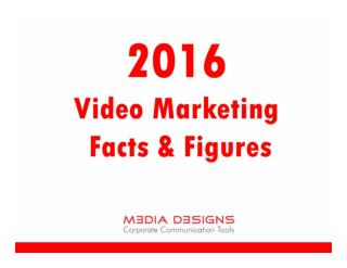 2016 Video Marketing Facts & Figures - Media Designs