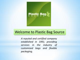 Advance quality plastic bags at wholesale prices
