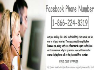 Toll-free Facebook Phone Number 1-866-224-8319 helps to recover your hacked account