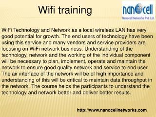 Wifi training