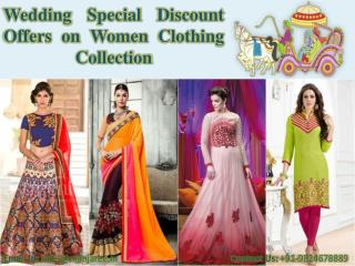 Wedding Special Discount Offers on Women Clothing Collection 2016 - 2017