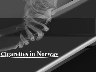 Cigarettes in Norway