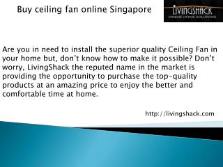 Buy ceiling fan online Singapore