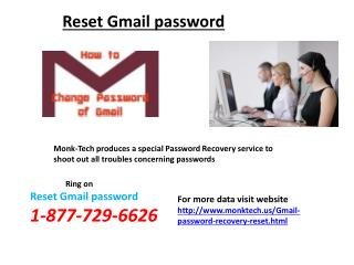 Recover Gmail Password @1-877-729-6626 Resolves Your Problems In An Instant Manner