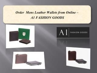 Order  Mens Leather Wallets from Online –A1 FASHION GOODS