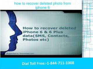 how to recover deleted photo from iphone 6