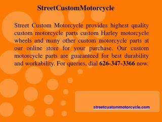 Highest Standard Custom Motorcycle Parts