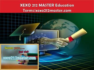 XECO 212 MASTER Education  Terms/xeco212master.com