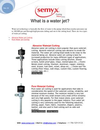 what is a water jet?