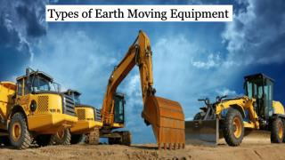 Types of Earth Moving Equipment in UAE