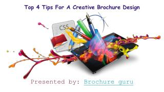 Top 4 tips for effective brochure design