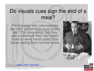 Do visuals cues sign the end of a meal
