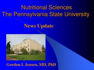 Nutritional Sciences The Pennsylvania State University