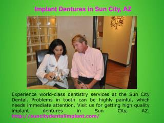 Implant Dentures in Surprise, AZ