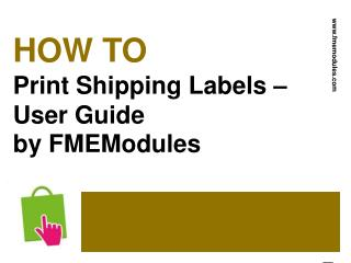 Shipping Labels Printing Guide for PrestaShop