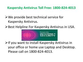 Kaspersky Tech Support | Technical Support Number 1-800-824-4013
