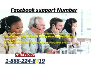 Facebook Technical Support Number @1-866-224-8319(toll free)