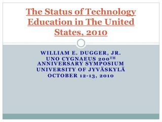 The Status of Technology Education in The United States, 2010