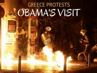 Greece protests Obama's visit