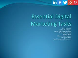 Essential Digital Marketing Tasks - X-mx Solutions