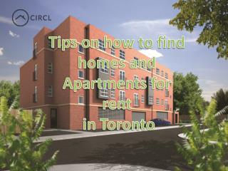 Tips on how to find homes and Apartments for rent in Toronto