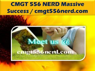 CMGT 556 NERD Massive Success / cmgt556nerd.com