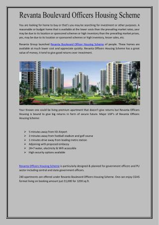 Revanta Boulevard Officers Housing Scheme