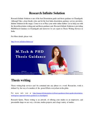 Thesis Guidance in Chandigarh | Thesis Writing Services Chandigarh