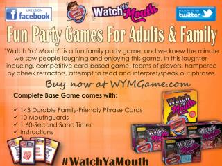Fun Party Games For Adults & Family - Watch Ya Mouth