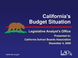 California's Budget Situation