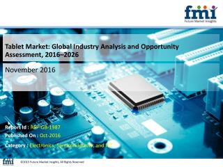 Tablet Market Intelligence Report Offers Growth Prospects