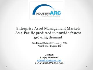 Enterprise Asset Management Market predicts cloud based EAM system to be the future for firms