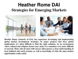 HeatherRomeDAI - Strategie For Emerging Markets