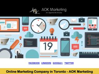 Online Marketing Company in Toronto - AOK Marketing