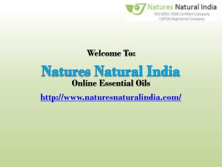 Collect fine collection of Natural Essential Oils at best price.