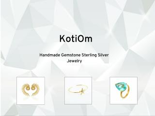Handmade Gemstone Sterling Silver Jewelry