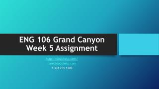 ENG 106 Grand Canyon Week 5 Assignment
