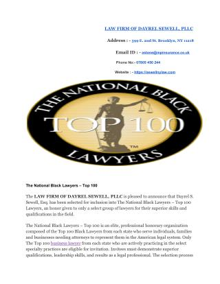 The National Black Lawyers – Top 100