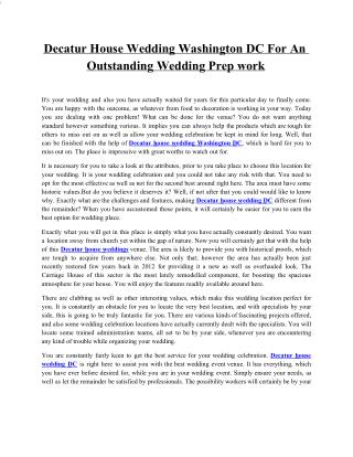 Decatur House Wedding Washington DC For An Outstanding Wedding Prep work2