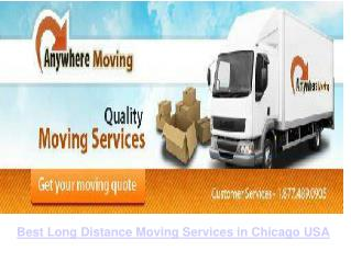 Best Long Distance Moving Services in Chicago, USA.