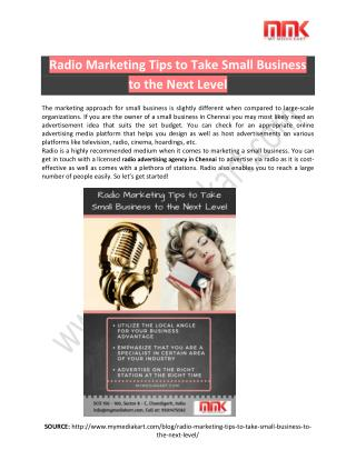 Radio Marketing Tips- Take small business to the next level