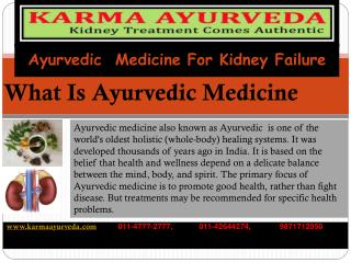 Ayurvedic treatment for kidney failure