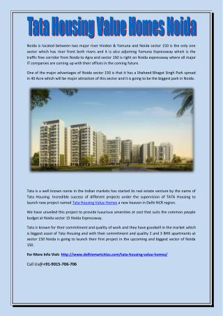 Tata housing value homes noida