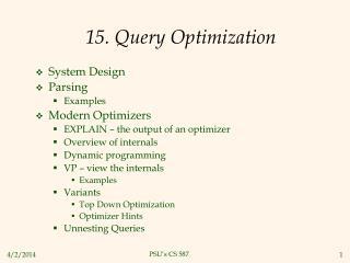 15. Query Optimization