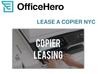 Lease a Copier NYC