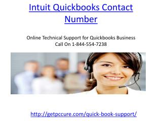 Get the Intuit Quickbooks Contact Number 1-844-554-7238