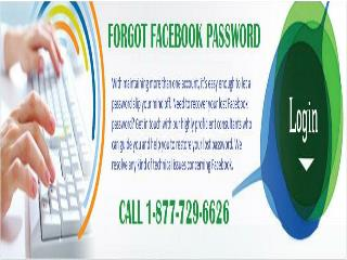 Forgot Facebook Password 1-877-729-6626 : A panacea to all your Facebook issues