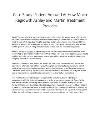 Patient Amazed At How Much Regrowth Ashley and Martin Treatment Provides