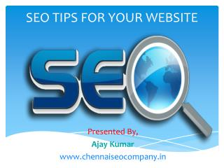 SEO Tips for Your Website