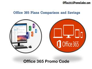 Office 365 Plans Comparison and Savings